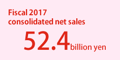 Fiscal 2016 consolidated net sales 48.3 billion yen