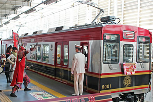We wrapped a train on the Ueda Electric Railway Bessho Line